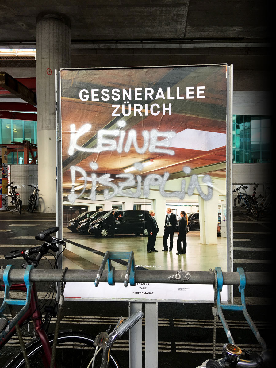 Gessnerallee Zürich | Plakatkampagne 2016/17