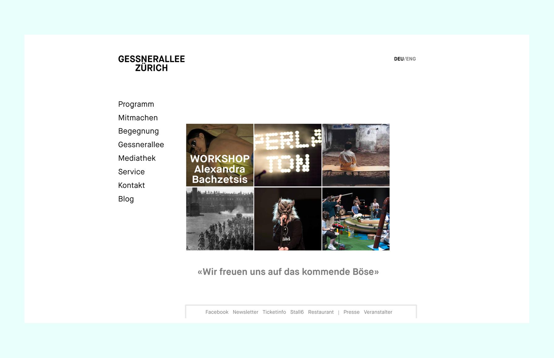 Gessnerallee Website