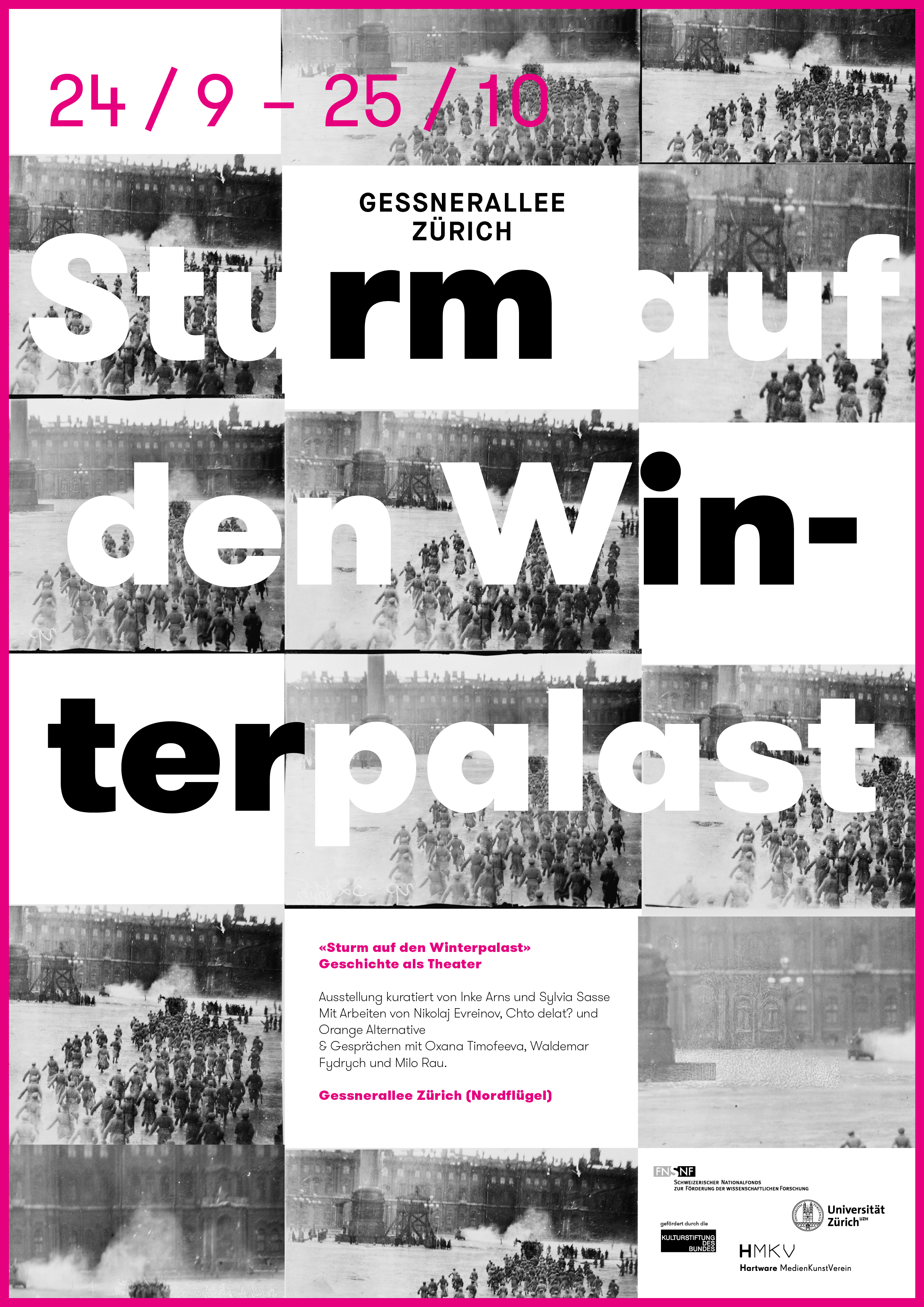 Universität Zürich | Werbemittel Ausstellung «Sturm auf den Winterpalast»